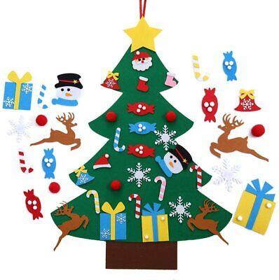 3FT Kids DIY Felt Christmas Tree with Ornaments Xmas Gift Wall Hanging Decor USA