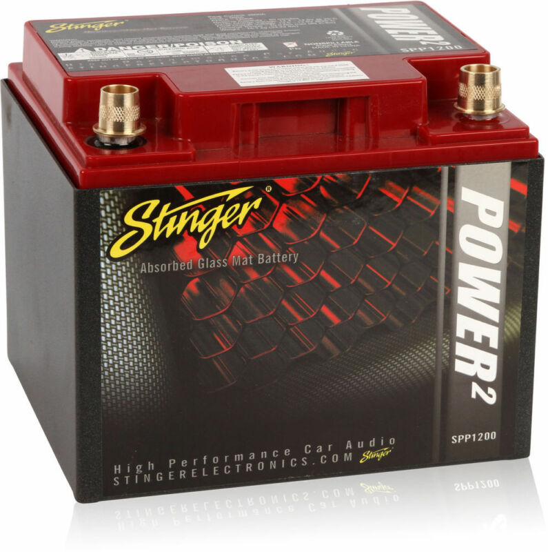 Stinger SPP1200 1200 Amp SPP Series Dry Power Cell Car Battery w/ Steel Case