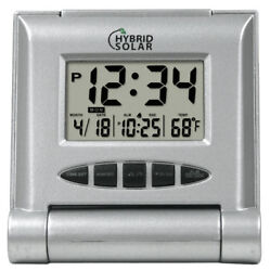65902 Equity by La Crosse Solar Hybrid Digital Travel Alarm Clock