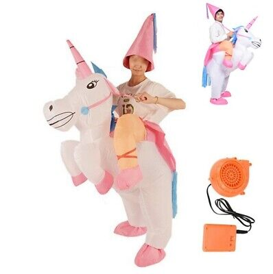 Child Unicorn Costume (Inflatable Unicorn Costume Adult Blow Up Suit Kid Party Gift Cosplay Fancy)