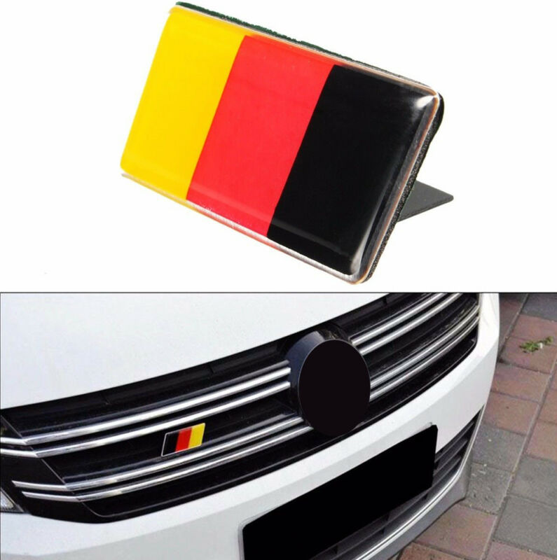 1x Metal Germany German Flag Car Front Grill Grille Emblem Badge Sticker Decal