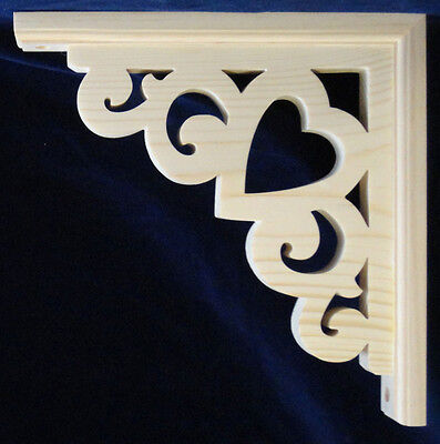 L&G Victorian Gingerbread Fretwork Heart Corner Trim Bracket 10""