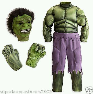 The Avengers Muscle Deluxe Hulk Disney Costume Marvel Comics 5-6 NWT - Deluxe Hulk Costume
