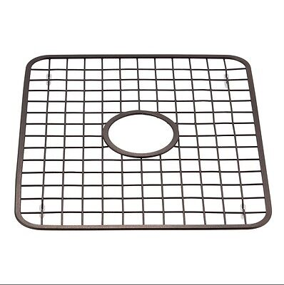 Kitchen Sink Grid Protector Rack with Drain Hole in Middle, Oil Rubbed Bronze
