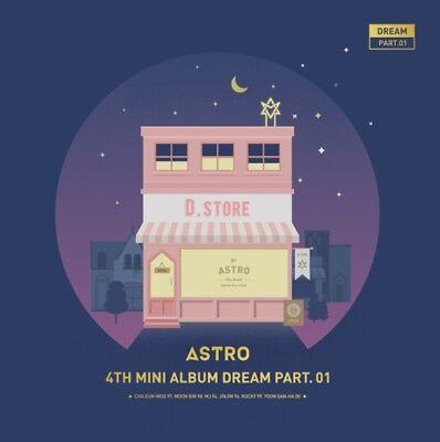 ASTRO 4th Mini Album [Dream Part. 01] NIGHT Ver. CD+Photobook+Postcard+Photocard