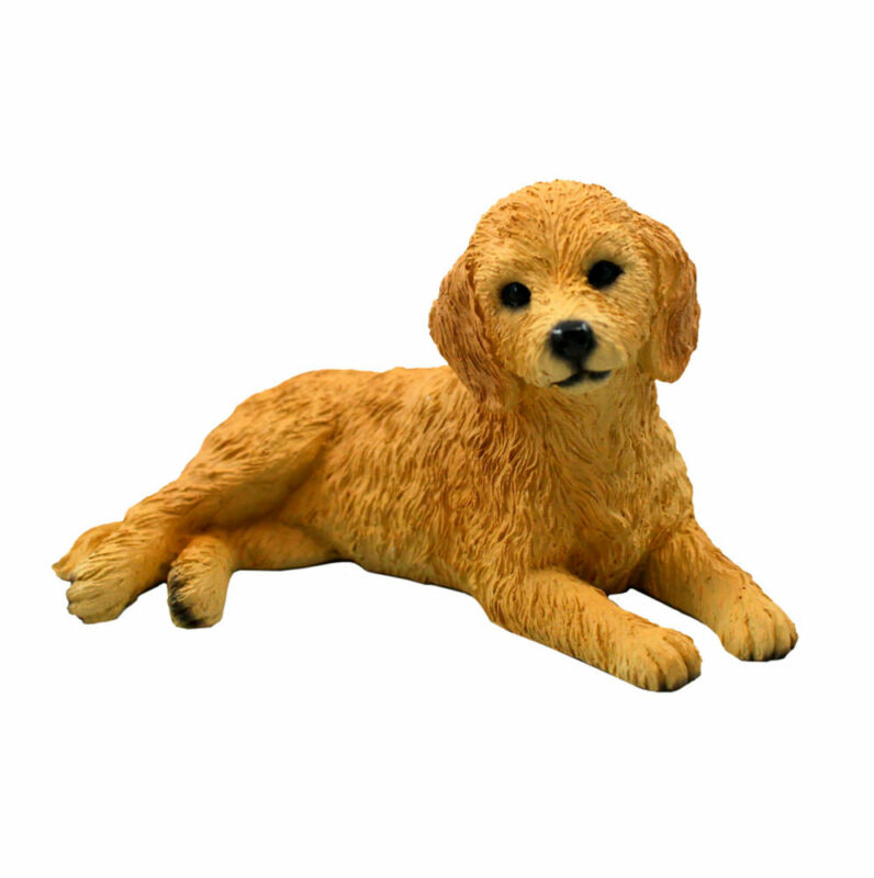 Goldendoodle Figurine Hand Painted Collectible Statue