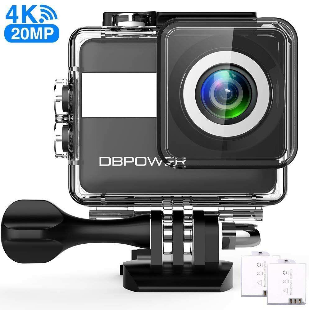 DBPOWER N6 Action-Kamera HD 4K 20MP WiFi Touchscreen, Smart Unterwasserkamera 30