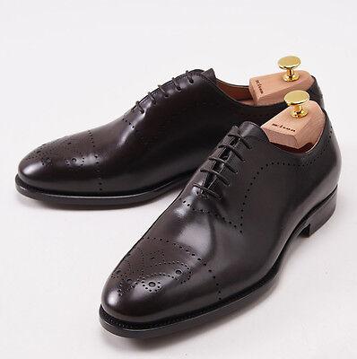 Nib  3050 Kiton Dark Brown Medallion Tip Wholecut Balmoral Us 9 Shoes