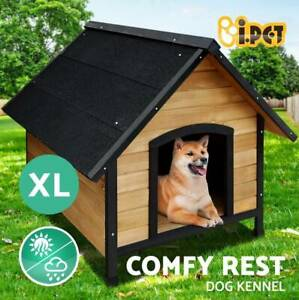 Dog Kennel Kennels Outdoor Wooden Pet House Puppy Extra Large XL