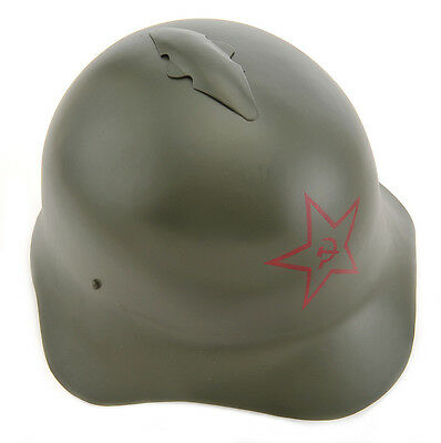 Russian M36 SSh-36 World War Two Helmet with Hammer and Sickle