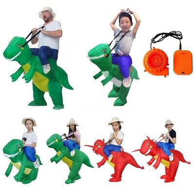 Inflatable Riding Costume (Ride On Adult & Kids Inflatable Dinosaur T Rex Costume Outfit Suit Halloween)