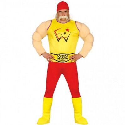 Hulk Hogan Wrestler Herren Kostüm Ringer Ringkämpfer Wrestling - Hulk Hogan Kostüm