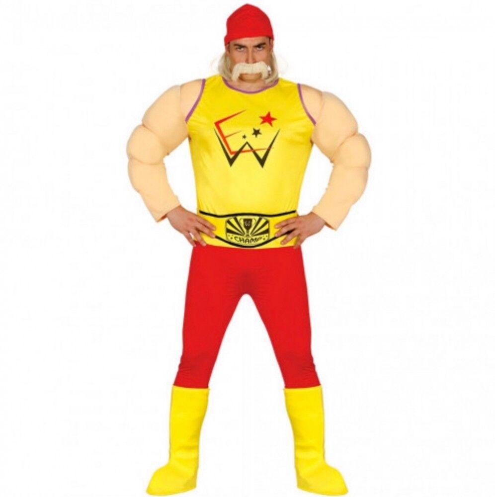Hulk Hogan Wrestler Herren Kostüm Ringer Ringkämpfer Wrestling Catcher