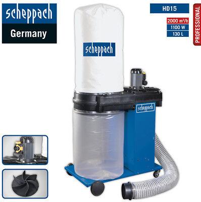 Scheppach Profi-Absauganlage HD15 1.1kW Späneabsaugung m.Reduzierung Ø140/100mm