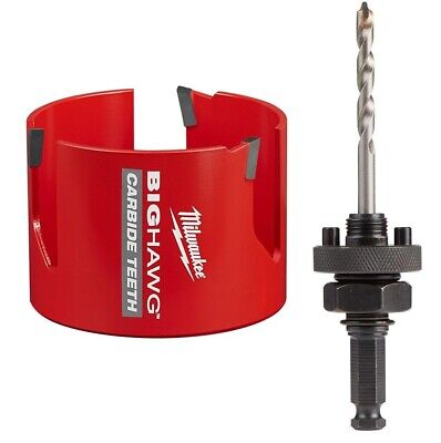 New Milwaukee 49-56-9240 3-58-inch Big Hawg Hole Cutter Arbor In Blister Pack