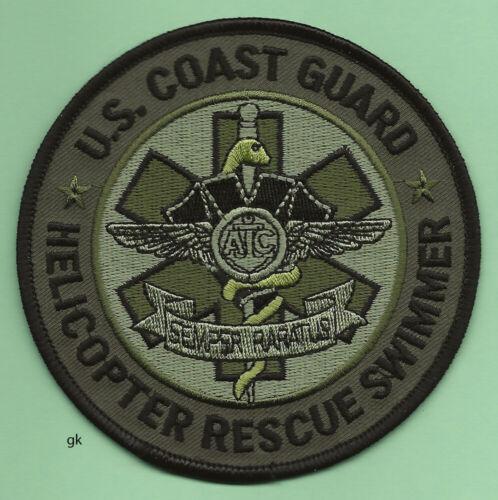 US COAST GUARD HELICOPTER RESCUE EMT SWIMMER SHOULDER PATCH  Subdued
