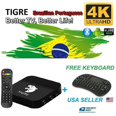 2018 New TIGRE TV Box Fountain-head as HTV5 A2 Upgrade Brazilian live TV + Free Keyboard