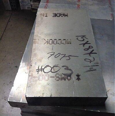 Aluminum Plate 7075 2.25 X 8 X 15