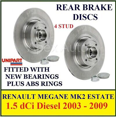 to fit RENAULT MEGANE MK2 ESTATE Rear Brake Discs 1.5dCi Diesel 2003 - 2009