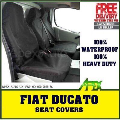 Fiat Ducato 1994 TWIN PASSENGER Heavy Duty Waterproof Van Seat Covers Grey