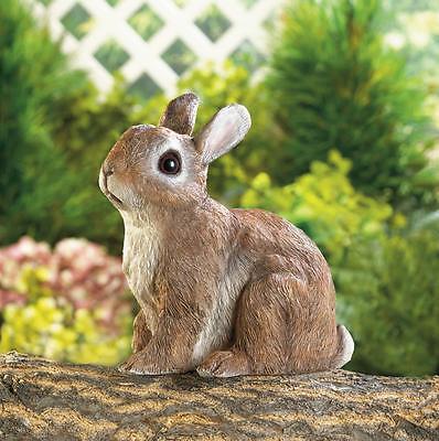 Sitting Bunny Garden Statue Indoor Outdoor Decor Rabbit Figurine
