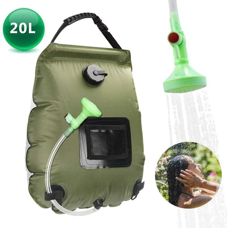 5 gallons/20L Solar Heating Camping Shower Bag for Beach Swimming Hiking Travel