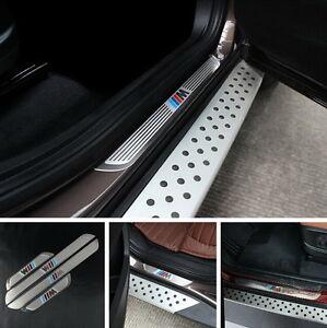 BMW X1 X3 X5 X6 5/1/3/7 Series 2009-2014 4 DOOR SILL GUARD SCUFF STAINLESS STEEL