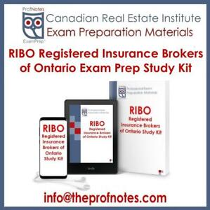 RIBO Exam Questions, Prep Textbooks Kit Registered Insurance Brokers of Ontario Readings, Exam Questions and Study Aids