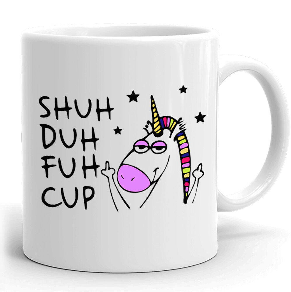 Funny Unicorn Mug Gift for coworkers or office present Shuh