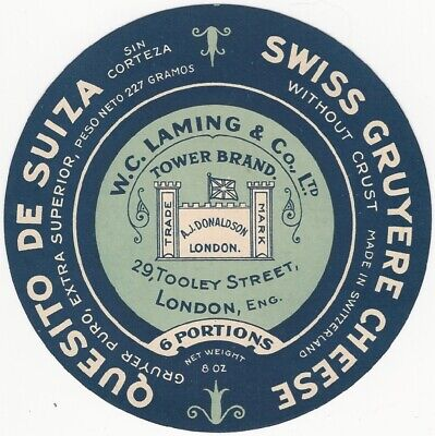 Vintage Swiss Gruyere Cheese - Quesito de Suiza Label ()