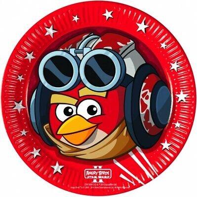 8 Angry Birds Star Wars Pappteller 23cm Plates Grillen Party Birthday Geschirr (Angry Birds Teller)