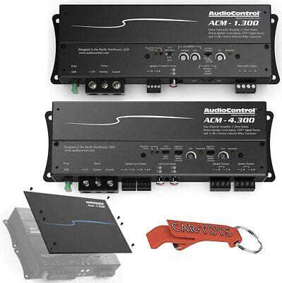 AudioControl ACM-4.300 Amplificadores mono para automóvil de 4 canales y ACM-1.300 con kit de placa de cubierta