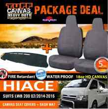 TUFF HD CANVAS Hiace 200 Series 18oz Seat Covers PLUS DASH MAT Mile End West Torrens Area Preview