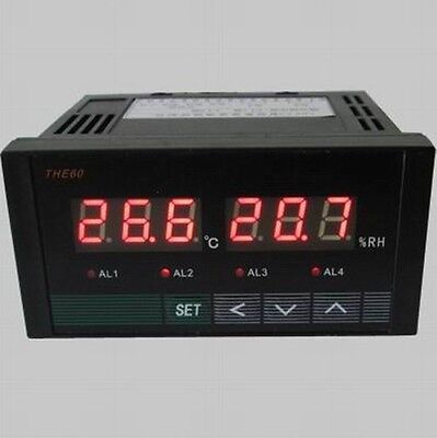 Digital Temperature Humidity Controller Two Road Relay Output Din And Uk-tone