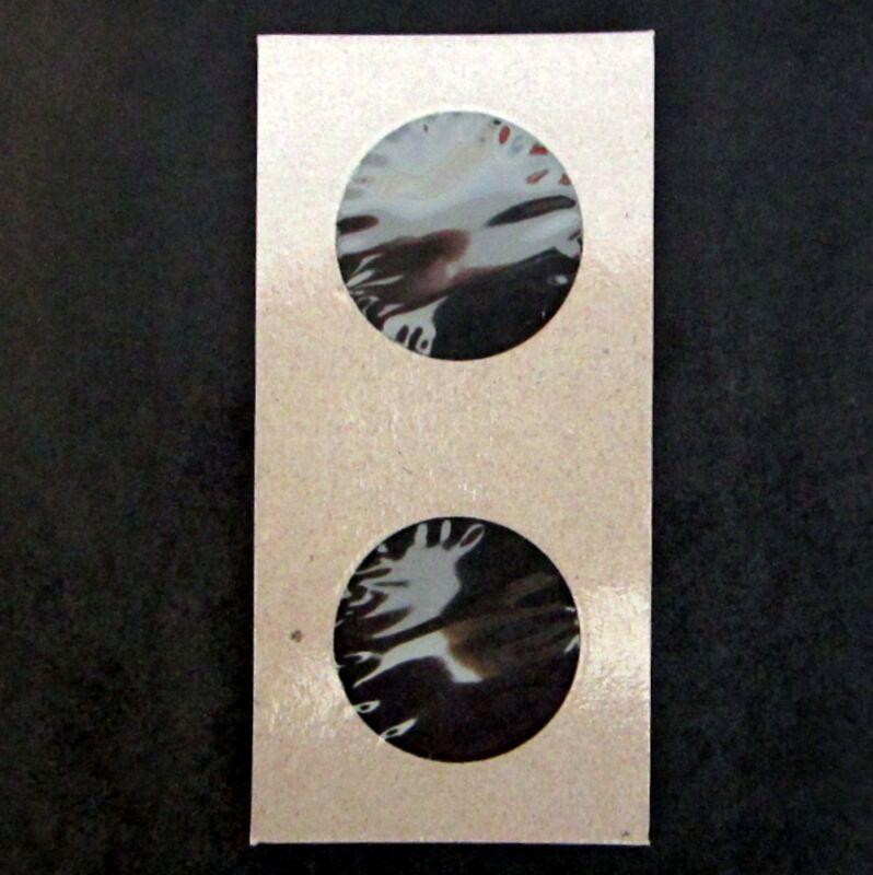 (50) Half Dollar Size 2x2 Mylar Cardboard Coin Flips Storage | 50 Cent Holders