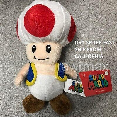 New Nintendo Official Super Mario Toad Plush 8