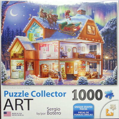 Santa on the Roof by Sergio Botero: Lafayette Puzzle Collector Art 1000pc Jigsaw