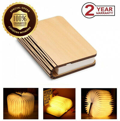 Wooden Folding Book Lamp, Magnetic LED Light, Decorative Lights, Table/Desk...