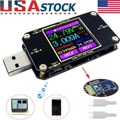 New Usb Type C Power Meter Tester Lcd Digital Multimeter Usb Voltmeter Ammeter