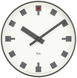 Lemnos Hibiya No Clock WR12-03 Analog ound Face White Dial Color from JAPAN F/S