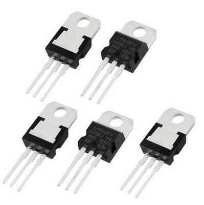 5 Pcs Positive 12 Volt Voltage Regulator 1.5 Amp To220 L7812 Lm7812 78012