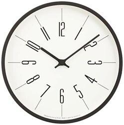 Lemnos Clock tower clock KK13-16 A Round Shape Analog Black White Interior