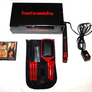 True-Ceramic-Pro-ionic-flat-iron-hair-straightener-NEW-Complete-Set-FREE-SHIPING