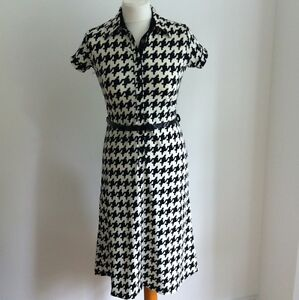 Oasis Black & White Dress BNWT Size UK 10 Eur 36 NEW