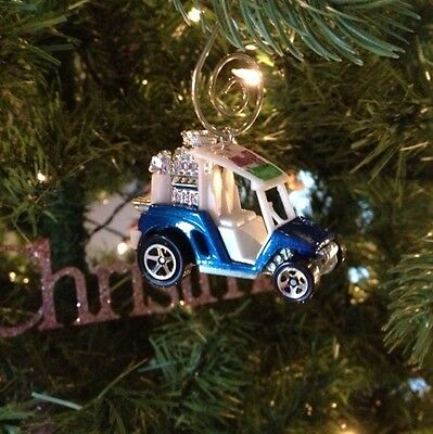 Rare Mini Golf Cart Ez Go Club Car Yamaha Ornament Blue Chrome Mag Wheels 1/64