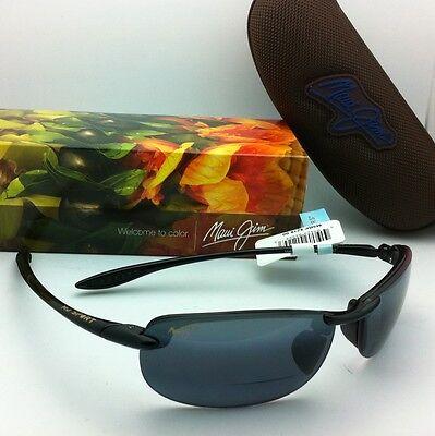 New MAUI JIM Sunglasses MAKAHA READER + 2.5 G 805-02 25 Black Frames Grey Lenses