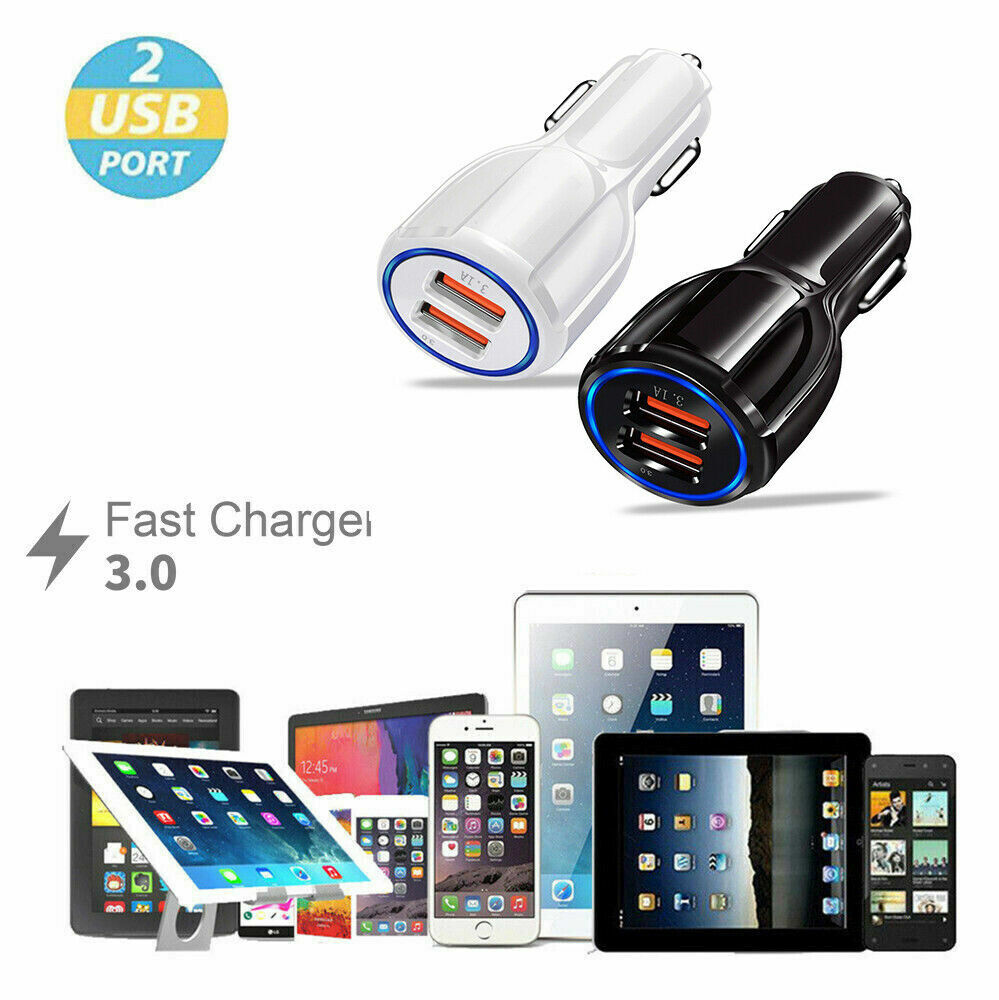 Dual USB 3.1A Car Charger Adapter 3.0 Fast Charging For iPhone Samsung LG HTC Cell Phone Accessories