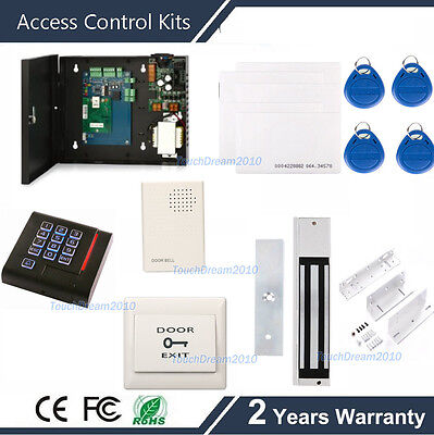 Door Access Control Software Free System Kit 280kg Mag Lock110-240v Power Box