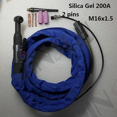 Us Ship 2 Pin Silica Gel Tig Torch 13ft 200a Air Cooled Eastwood Tig200 Welder