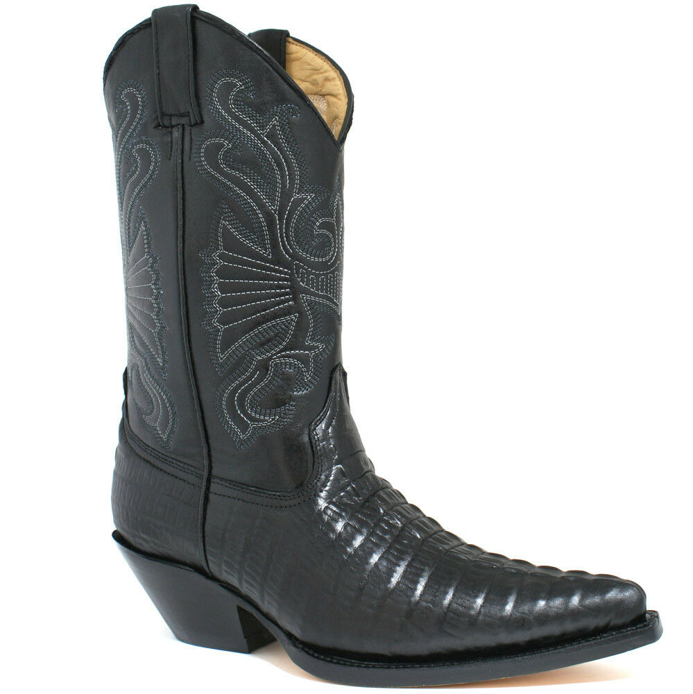 Gli Ultimi Stivali Da Cowboy In Pelle Nera Di Grinders